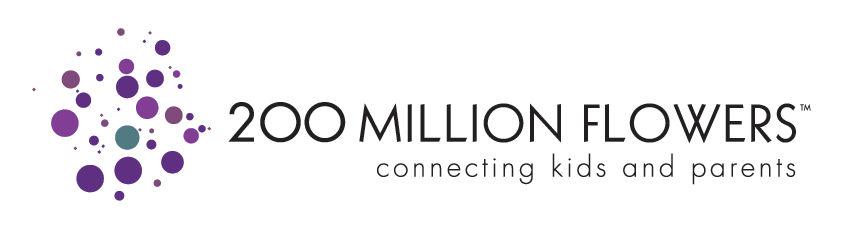 200 Million Flowers Logo
